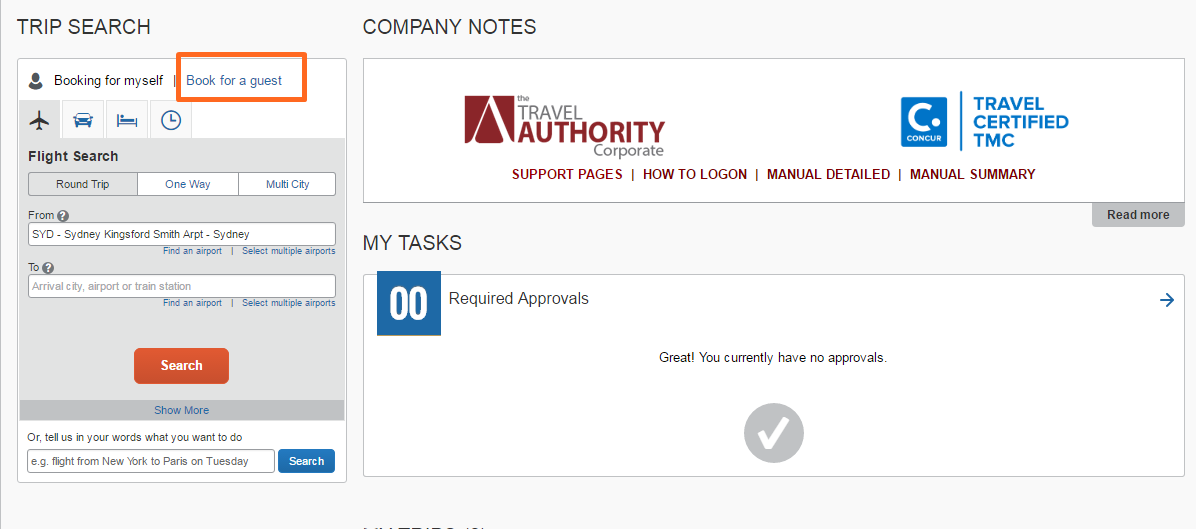 eLearning Space - Concur Travel - Approval Process